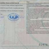 Licences and certificates